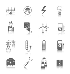 Set of electricity icons vector