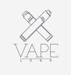 Vaping logo with two crossed mechanical vector