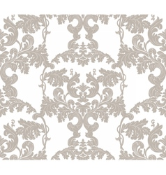 Vintage floral ornament damask pattern vector
