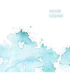 Watercolor background for layout blue splashes vector image