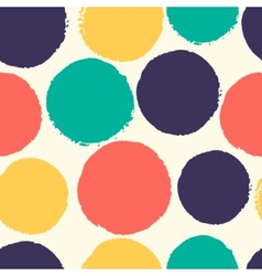 Watercolor polka dots vector image vector image