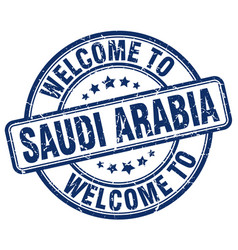 Welcome to saudi arabia vector