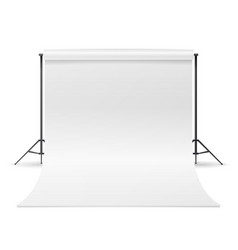 White photo studio empty white canvas vector