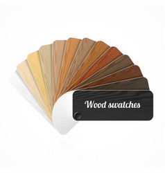 Wood color swatches guide samples fan vector image vector image