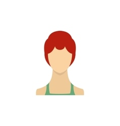 Woman with sleek hair and a bun icon flat style vector