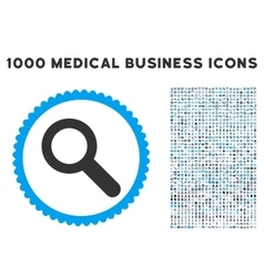 Search icon with 1000 medical business pictograms vector
