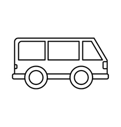Van vehicle isolated icon vector