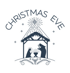 Happy christmas eve logo vector
