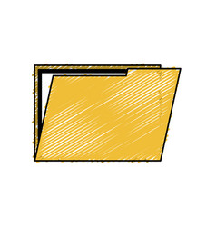 file folder isolated icon vector image
