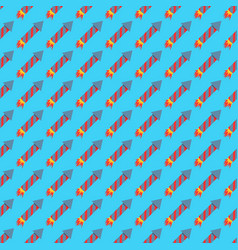 Missile rocket seamless pattern vector