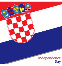Croatia independence day vector