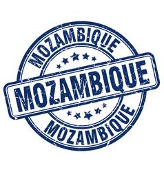 Mozambique blue grunge round vintage rubber stamp vector