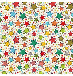 Colorful stars seamless pattern vector