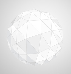 Abstract geometric paper origami sphere compositio vector image
