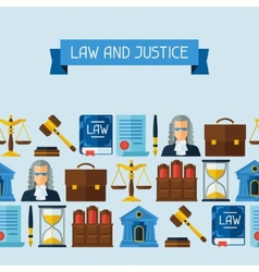 Law icons seamless pattern in flat design style vector