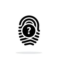 Question mark faq sign fingerprint icon on white vector