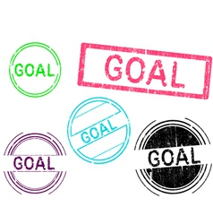 5 Grunge Stamps GOAL vector image vector image
