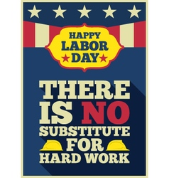 Labor day quote greeting card vector