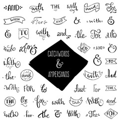 Collection of Catchwords vector image