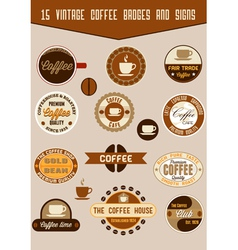 Vintage coffee badges vector