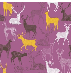 deer craft wallpaper vector image