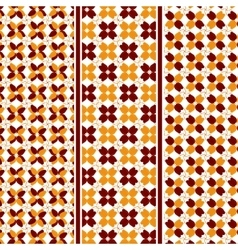 Abstract Autumn Leaves Pattern vector image vector image