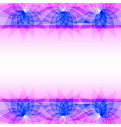 Abstract purple background with flowers vector image vector image