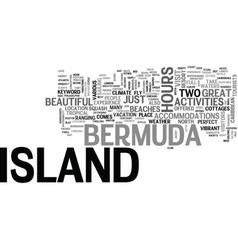 Bermuda island text word cloud concept vector