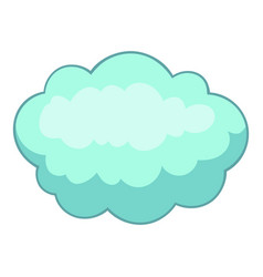 Big cloud icon cartoon style vector