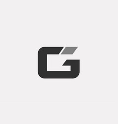 Black white g alphabet letter logo icon template vector