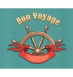Bon voyage vector
