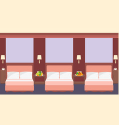 comfortable hostel room interior in a flat style vector image vector image