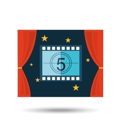 concept cinema theater strip counting graphic vector image vector image