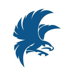 eagle bird logo abstract design vector image