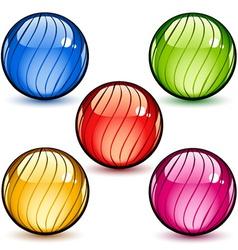 Glass spheres vector
