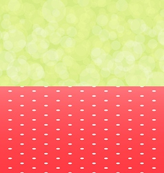 Green background boken and red tablecloth with vector