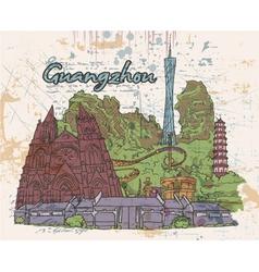 guangzhou doodles vector image vector image