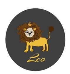 Happy leo sticker hand drawn of a vector