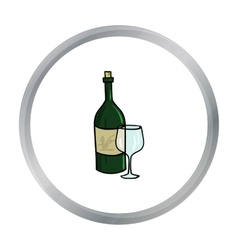 Italian wine from Italy icon in cartoon style vector image vector image