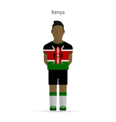 Kenya football player soccer uniform vector