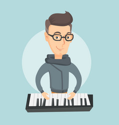 man playing piano vector image vector image