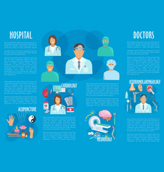 medical or hospital healthcare infographics vector image vector image