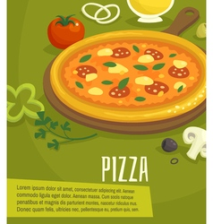 Pizza poster menu layout template vector image vector image