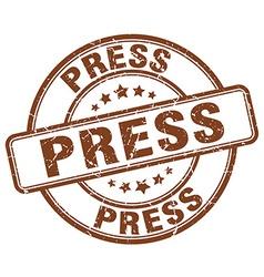 Press brown grunge round vintage rubber stamp vector