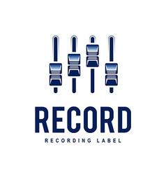 Record logo vector