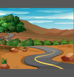Road in the countryside vector