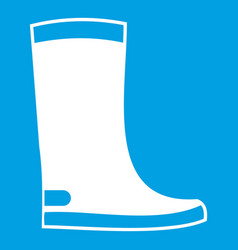 rubber boots icon white vector image