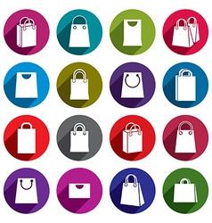 Shopping back icons set shopping theme simplistic vector image vector image
