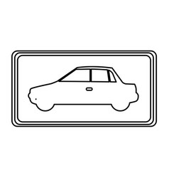 Square with car side inside vector
