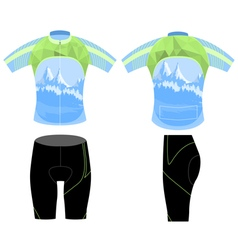 Uniform bike shirt vector
